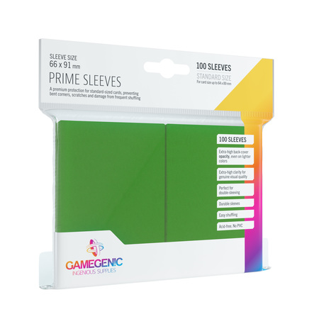 Gamegenic: Prime CCG Sleeves (66x91 mm) - Green, 100 sztuk (1)